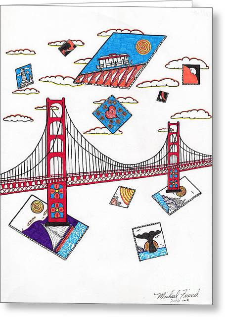 Buildings By The Ocean Greeting Cards - San Francisco Afloat Greeting Card by Michael Friend