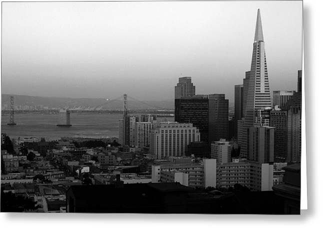 Downtown San Francisco Greeting Cards - San Francisco Greeting Card by Aidan Moran