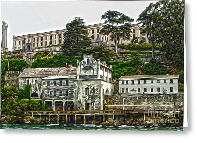 San Francisco - Alcatraz - 05 Greeting Card by Gregory Dyer