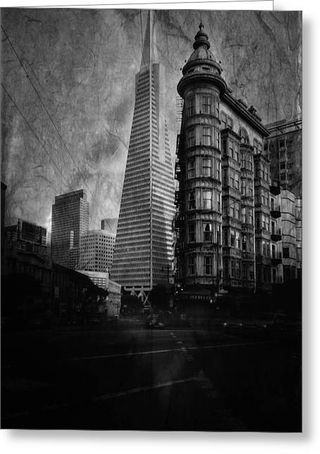 Flat Iron Building Greeting Cards - San Francisco Architecture Greeting Card by Chad Tracy