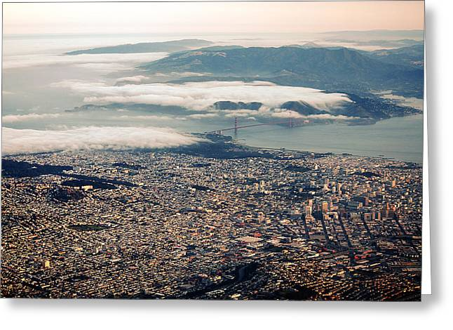 Arial Greeting Cards - San Francisco   Greeting Card by Art K