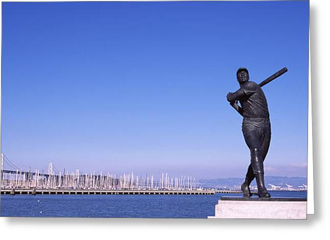 Sea Sports Greeting Cards - San Francisco Bay, Bay Bridge, San Greeting Card by Panoramic Images