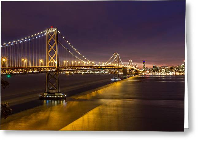 Bay Bridge Greeting Cards - San Francisco Bay bridge Greeting Card by Pierre Leclerc Photography