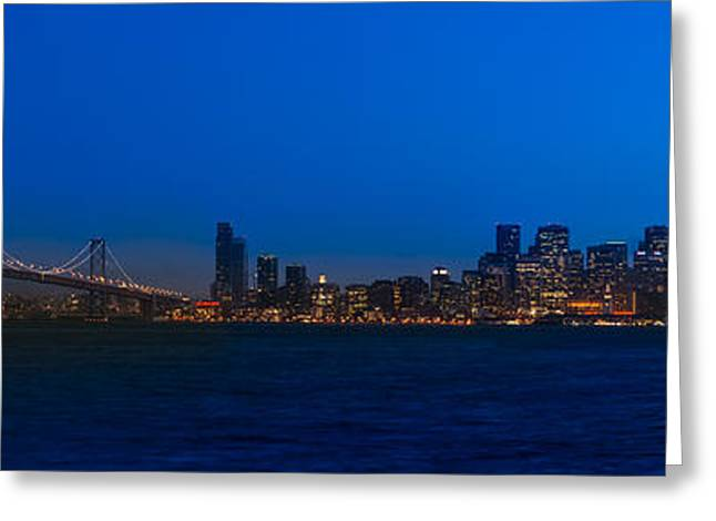 San Francisco Bay Bridge Greeting Cards - San Francisco Bay Greeting Card by Steve Gadomski