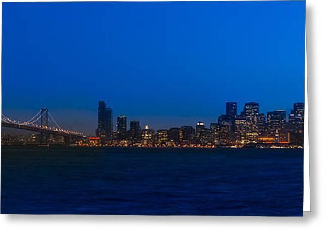 San Francisco Bay Greeting Card by Steve Gadomski