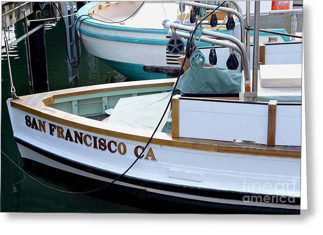 San Francisco Boat Greeting Card by Jon Neidert