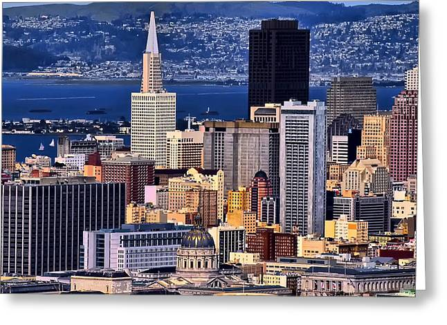 Framed Print Greeting Cards - San Francisco Greeting Card by Camille Lopez