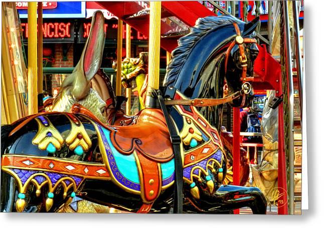 Pier 39 Greeting Cards - San Francisco Carousel 001 Greeting Card by Lance Vaughn