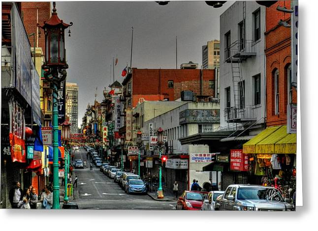 Downtown San Francisco Photographs Greeting Cards - San Francisco - Chinatown 001 Greeting Card by Lance Vaughn