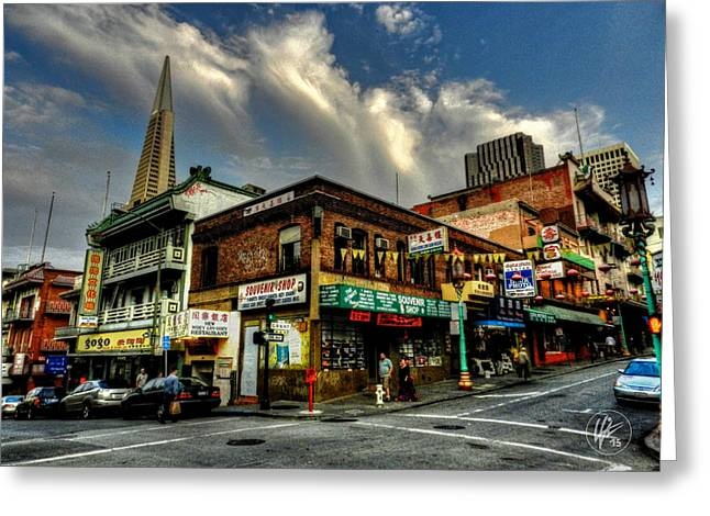 Downtown San Francisco Greeting Cards - San Francisco - Chinatown 002 Greeting Card by Lance Vaughn