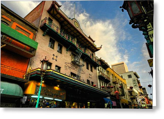Downtown San Francisco Photographs Greeting Cards - San Francisco - Chinatown 003 Greeting Card by Lance Vaughn