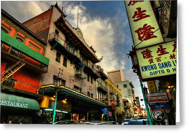 Downtown San Francisco Photographs Greeting Cards - San Francisco - Chinatown 004 Greeting Card by Lance Vaughn