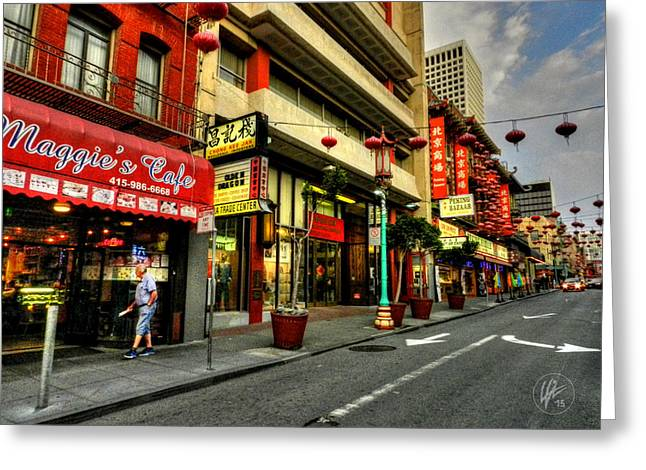 Downtown San Francisco Photographs Greeting Cards - San Francisco - Chinatown 005 Greeting Card by Lance Vaughn
