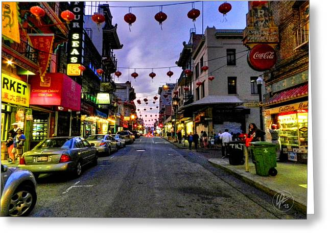 San Francisco Greeting Cards - San Francisco - Chinatown 008 Greeting Card by Lance Vaughn
