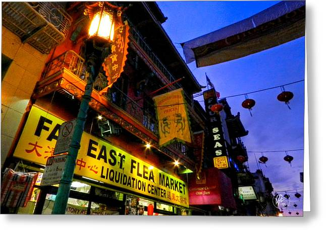 San Francisco Greeting Cards - San Francisco - Chinatown 009 Greeting Card by Lance Vaughn