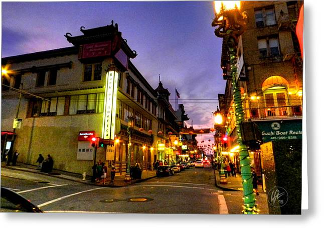 Downtown San Francisco Photographs Greeting Cards - San Francisco - Chinatown 010 Greeting Card by Lance Vaughn