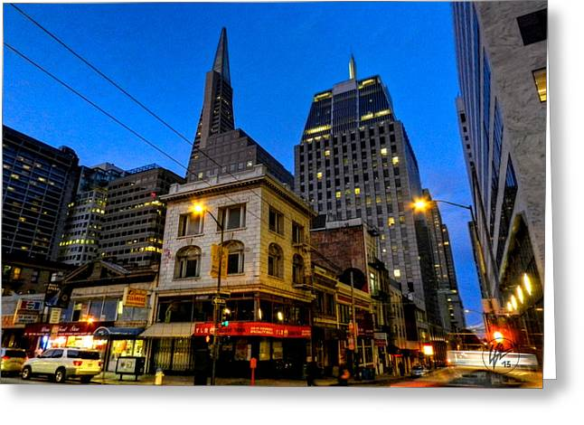 San Francisco - Chinatown 011 Greeting Card by Lance Vaughn