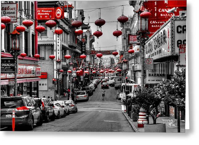 San Francisco - Chinatown 014 Greeting Card by Lance Vaughn