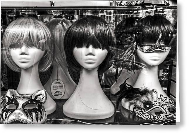 Display Dummy Greeting Cards - San Francisco Chinatown Window Display Mannequin Heads Greeting Card by The  Vault - Jennifer Rondinelli Reilly