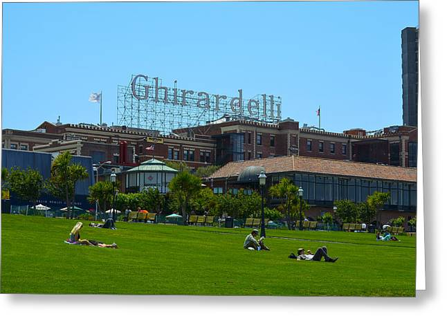 Ghirardelli Chocolate Factory Greeting Cards - San Francisco Chocolate Greeting Card by Dick Hudson