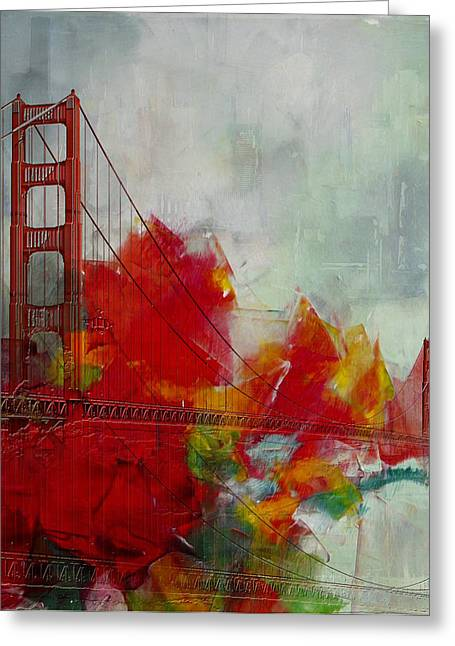Fran Greeting Cards - San Francisco City Collage Greeting Card by Corporate Art Task Force