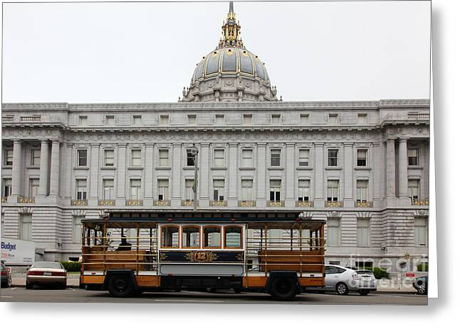 Civic Center Greeting Cards - San Francisco City Hall 5D22475 Greeting Card by Wingsdomain Art and Photography