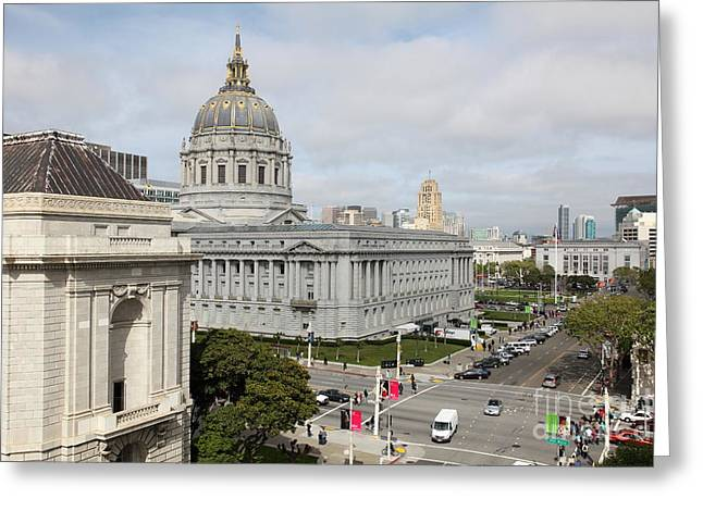Civic Center Greeting Cards - San Francisco City Hall 5D22554 Greeting Card by Wingsdomain Art and Photography