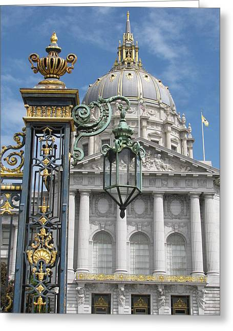 Alfred Ng Art Greeting Cards - San Francisco City Hall Greeting Card by Alfred Ng