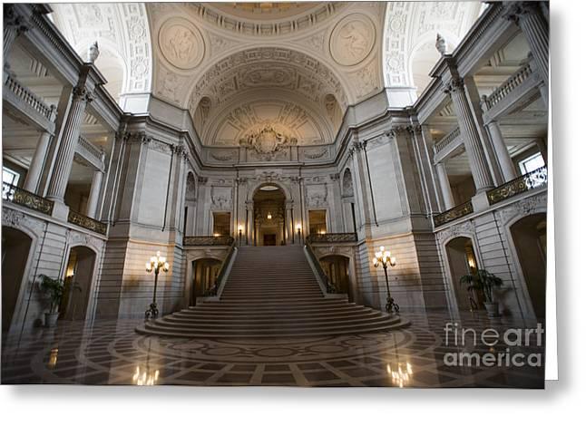 City Hall Greeting Cards - San Francisco City Hall Greeting Card by David Bearden
