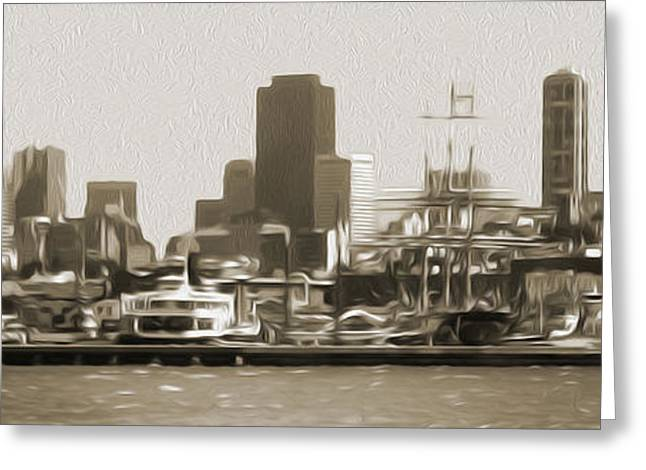 San Francisco - Cityscape - 02 Greeting Card by Gregory Dyer