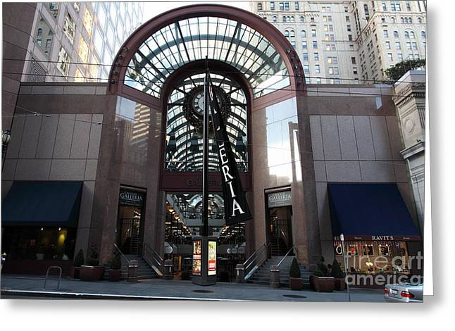 San Francisco Crocker Galleria - 5D20599 Greeting Card by Wingsdomain Art and Photography