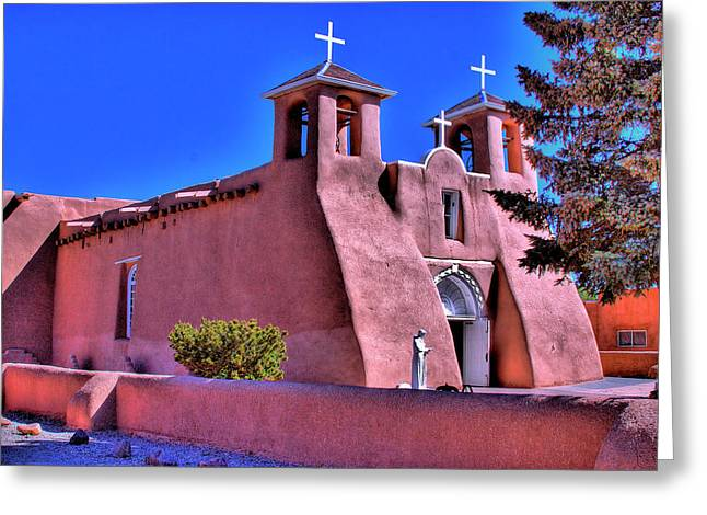 Taos Greeting Cards - San Francisco de Asis Mission Church Greeting Card by David Patterson