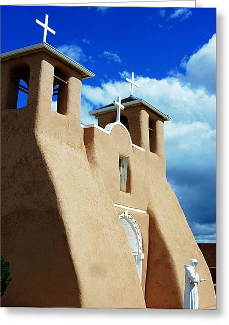 Gia Marie Houck Greeting Cards - San Francisco de Asis Mission Church Greeting Card by Gia Marie Houck