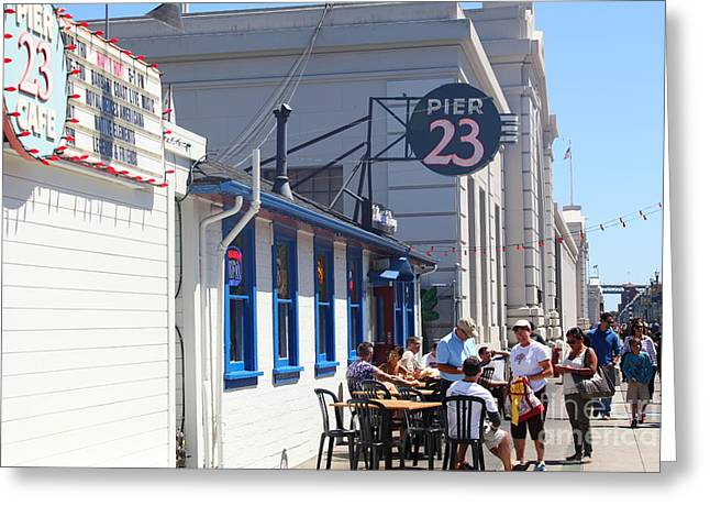 American Food Greeting Cards - San Francisco Embarcadero Pier 23 Cafe 5D29433 Greeting Card by Wingsdomain Art and Photography
