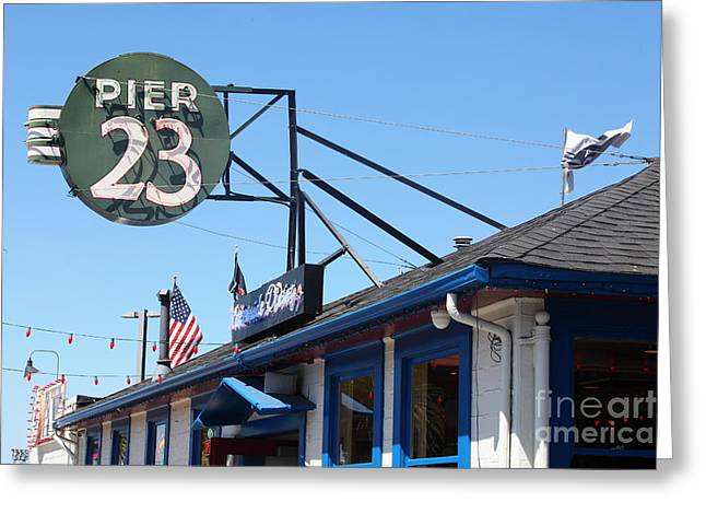 American Food Greeting Cards - San Francisco Embarcadero Pier 23 Cafe 5D29435 Greeting Card by Wingsdomain Art and Photography