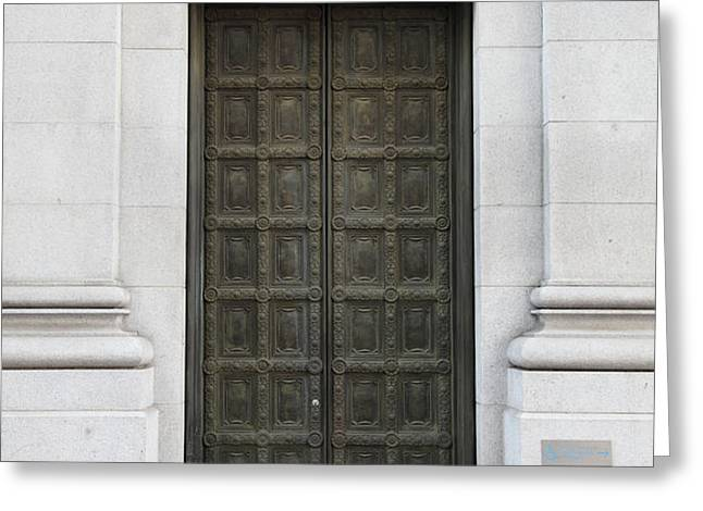 San Francisco Emporio Armani Store Doors - 5D20538 Greeting Card by Wingsdomain Art and Photography