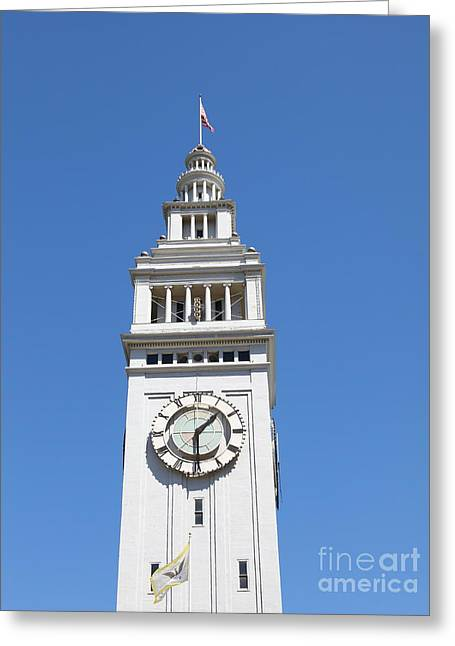 Downtown San Francisco Greeting Cards - San Francisco Ferry Building 5D25376 Greeting Card by Wingsdomain Art and Photography