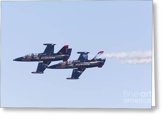 Military Airplanes Greeting Cards - San Francisco Fleet Week Patriots Jet Team 5D29511 Greeting Card by Wingsdomain Art and Photography