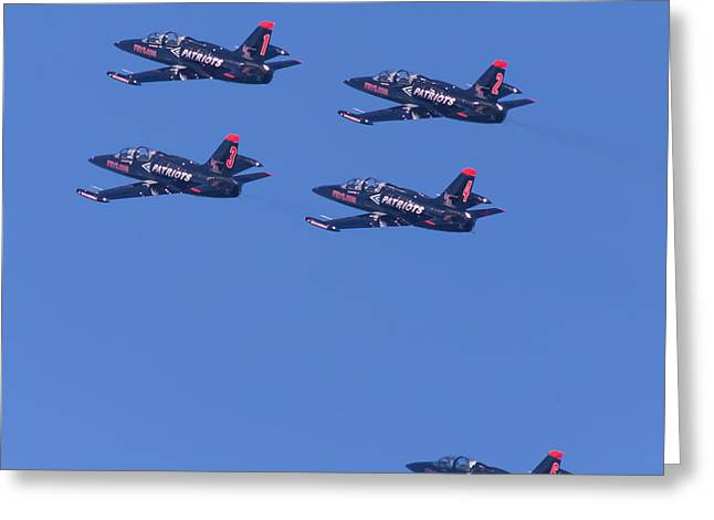 Military Airplanes Greeting Cards - San Francisco Fleet Week Patriots Jet Team 5D29514 Greeting Card by Wingsdomain Art and Photography