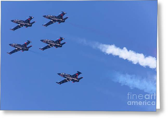 Military Airplanes Greeting Cards - San Francisco Fleet Week Patriots Jet Team 5D29516 Greeting Card by Wingsdomain Art and Photography