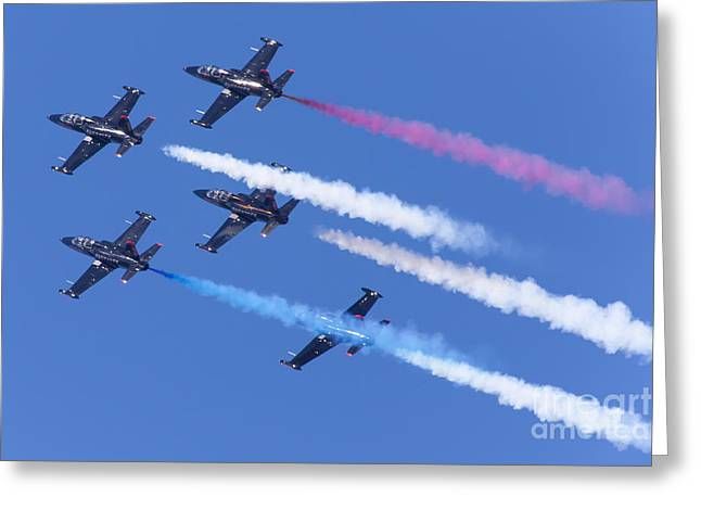 Military Airplanes Greeting Cards - San Francisco Fleet Week Patriots Jet Team 5D29517 Greeting Card by Wingsdomain Art and Photography