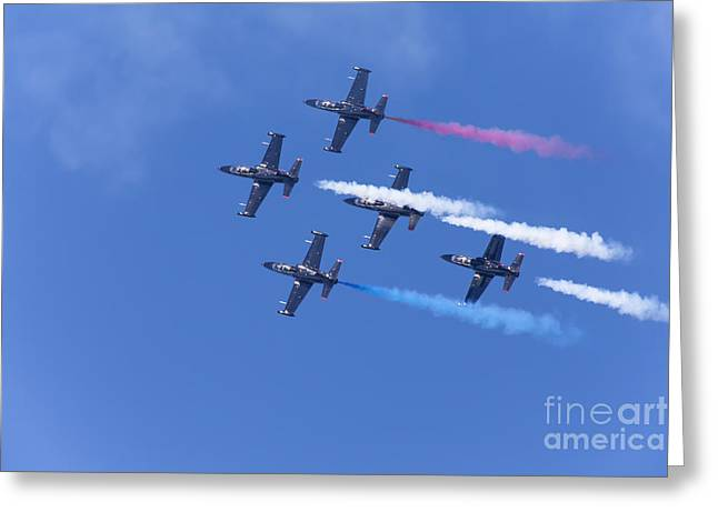 Military Airplanes Greeting Cards - San Francisco Fleet Week Patriots Jet Team 5D29518 Greeting Card by Wingsdomain Art and Photography