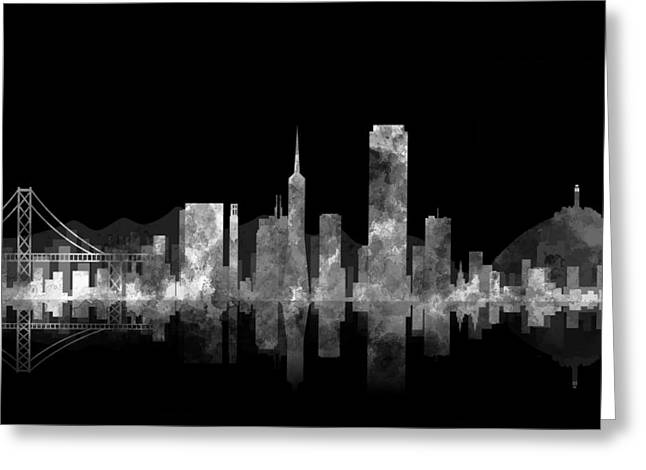 San Francisco Bay Digital Greeting Cards - San Francisco Fog Greeting Card by Daniel Hagerman