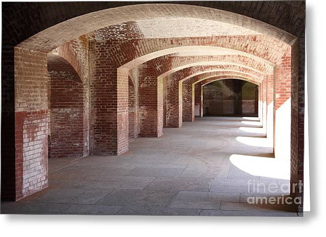The Vault Photographs Greeting Cards - San Francisco Fort Point 5D21545 Greeting Card by Wingsdomain Art and Photography