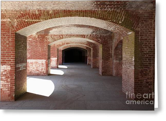 The Vault Greeting Cards - San Francisco Fort Point 5D21546 Greeting Card by Wingsdomain Art and Photography