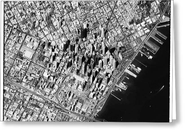 San Francisco From Above Greeting Card by World Art Prints And Designs