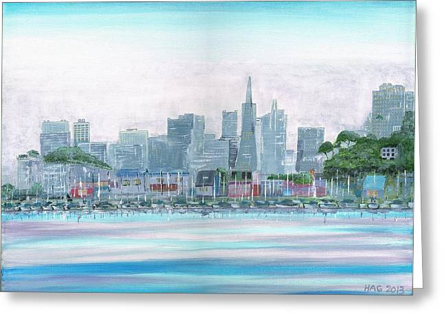Sausalito Greeting Cards - San Francisco From Sausalito Greeting Card by Harlan Gilbert