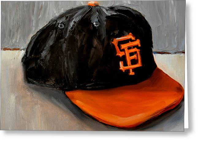 League Paintings Greeting Cards - San Francisco Giants Greeting Card by Lindsay Frost