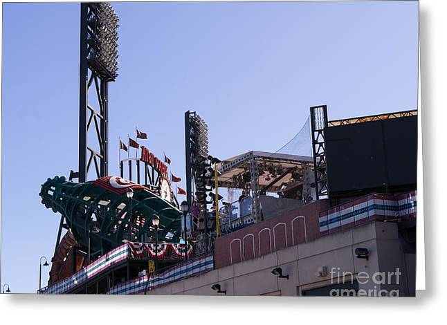 American Pastime Photographs Greeting Cards - San Francisco Giants World Series Baseball At ATT Park DSC1884 Greeting Card by Wingsdomain Art and Photography