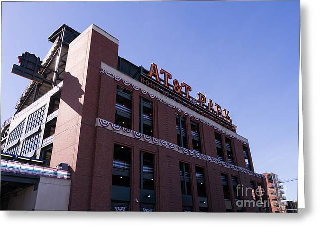 American Pastime Photographs Greeting Cards - San Francisco Giants World Series Baseball At ATT Park DSC1886 Greeting Card by Wingsdomain Art and Photography